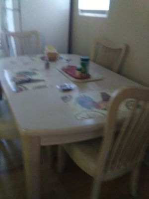 Solid oak dining room table and chairs for Sale in Pensacola, FL