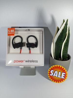 Sport Wireless Power 3 Wireless up to 5 HR Battery Life, Remote Talk, Water and Sweat Resistance. for Sale in Loma Linda, CA