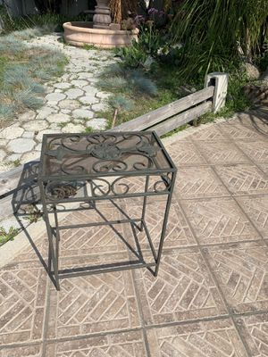 Vintage iron table for Sale in Long Beach, CA