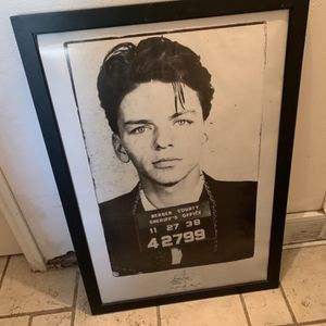 "PICTURE, FRANK SINATRA, mug shot 27""w x 39""tall, NO GLASS for Sale in Richardson, TX"