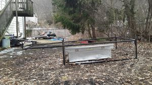 Ladder racks heavy duty 8-foot bed with toolbox $200 for Sale in Naugatuck, CT