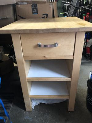 Island/ butcher block- Crate & Barrel for Sale in St. Charles, IL
