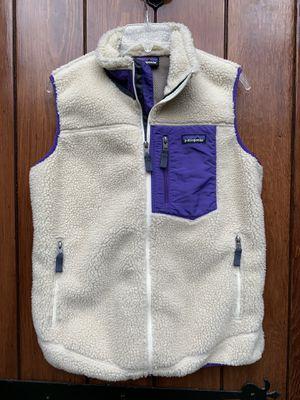 PATAGONIA Classic Retro X Deep Pile Fleece Vest L Oatmeal/Blue/Purple Fall 2015 for Sale in Washington, DC