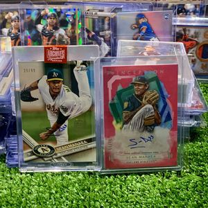 Sean Manaea Oakland Athletics Autographed Baseball Cards Both Numbered Out Of 99 Topps Archives And Inception for Sale in Emmaus, PA