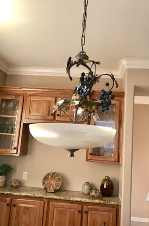 Beautiful Chandelier - Grapes with Leaves Decor - REDUCED!! for Sale in Petaluma, CA