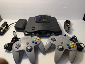 Nintendo 64 n64 super Mario 64 bundle 2 controllers for Sale in Wood Dale, IL