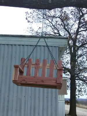 Cedar porch swing bird feeders for Sale in Imperial, MO