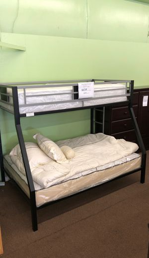 Twin full metal bunk bed ($429without mattress ) for Sale in Stockton, CA