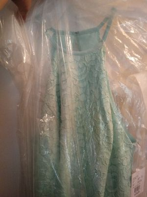 Size 16 never used open back mint color dress for Sale in Aloha, OR