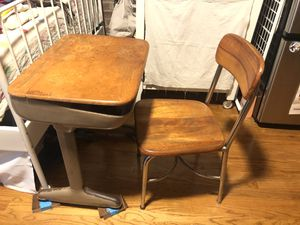 Vintage School Desk & Chair for Sale in Brooklyn, NY
