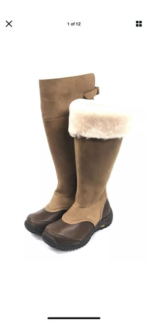 UGG Australia TALL MIKO Chestnut WATERPROOF LEATHER SHEEPSKIN BOOTS 1013479 for Sale in Plantation, FL