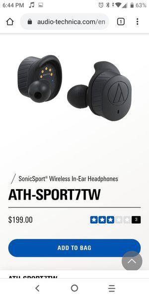 Audio-Technica ATH-SPORT7TW Wireless Headphones for Sale in Rancho Cucamonga, CA
