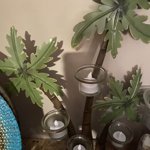 Palm tree candle holder for Sale in North Attleborough, MA