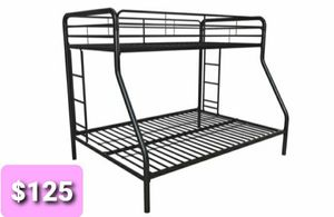 Twin over full bunk beds frame for Sale in Dallas, TX