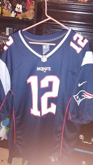 New England Patriots Tom Brady Jersey Authentic Jersey Size: 3XL for Sale in Azusa, CA