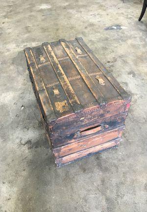 INCREDIBLE Large Wagon Trunk Treasure Chest - Marked MWB CHARLESTON West Virginia RI for Sale in Tacoma, WA