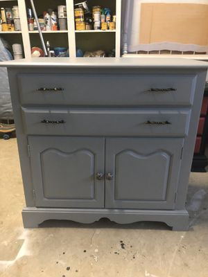 Vintage Cochrane Buffet or Changing Table Painted Gray for Sale in Garner, NC