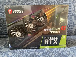 (Sealed) MSI GeForce RTX 3070 Gaming X Trio Triple-Fan 8GB GDDR6 PCIe 4.0 Graphics Card for Sale in Huntington Beach, CA
