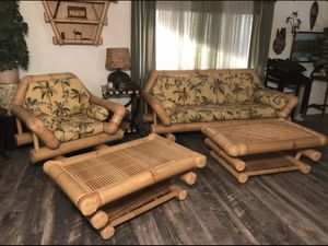 5-Piece set of Antique/Vintage Bamboo Furniture for Sale in Wildomar, CA