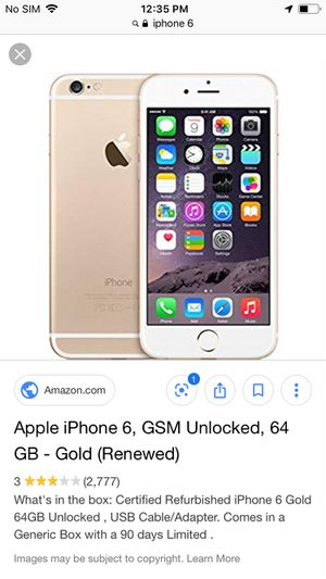 iPhone 6 unlocked for Sale in San Francisco, CA