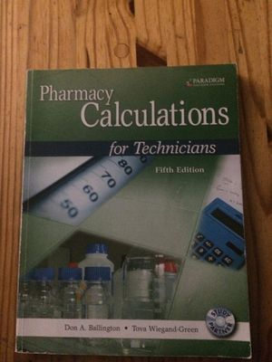 Pharmacy calculations book for Sale in Penrose, CO