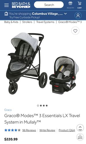Graco Modes 3 Essentials Travel System Jogging Stroller Infant car seat for Sale in Virginia Beach, VA
