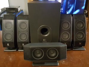 Logitech X540 5.1 Surround speaker system for PC/TV for Sale in Greenwood, MO