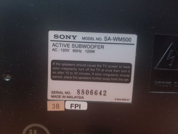 Sony Dolby Digital entertainment center