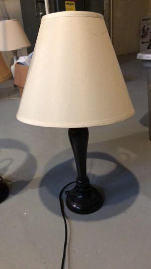"""Black lamp off white shade 24"""" for Sale in Pittsburgh, PA"""