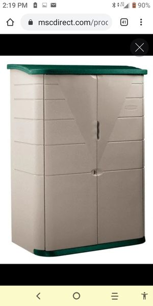 Rubbermaid4 Ft. 8 Inches Wide x 6 Ft. 5 Inches High x 2 Ft. 8 Inches Deep Plastic Vertical Storage Shed for Sale in San Diego, CA