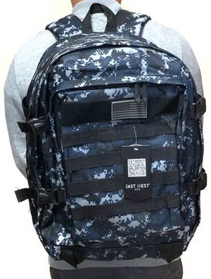 Brand NEW! Blue Digital Tactical Molle Backpack For Everyday Use/Work/Traveling/Hiking/Biking/Camping/Hunting/Fishing/Gifts for Sale in Carson, CA