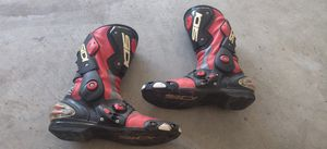 SIDI Red Vertigo Corsa Motorcycle Boots size 11.5 for Sale in Chino Hills, CA