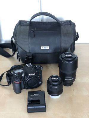 Immaculate Nikon D7100 + 2 Nikkor Lenses and Carrying Case/Bag for Sale in Houston, TX