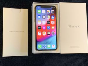 Iphone X 256gb Factory Unlocked Silver Smartphone for At&t att Or tmobile Only new replacement space gray for Sale in Doral, FL