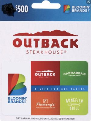 Bloomin' Brands $500 Gift (Outback, Fleming's, Bonefish, Carrabba's) for Sale in Washington, DC