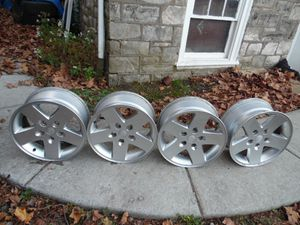 """2007-2014 17"""" Jeep Wrangler Wheels Rims.Set Of Four 17X7.5 Wheel Rim 5 Spoke for Sale in Clifton Heights, PA"""