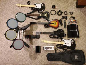 Ps3 bundle guitar hero for Sale in PORT JEFF STA, NY