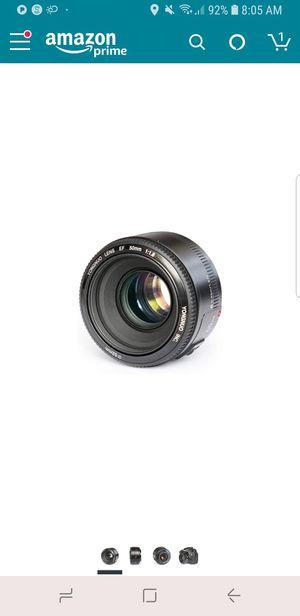 YONGNUO YN50mm F1.8 Standard Prime Lens for Sale in Kirkwood, MO
