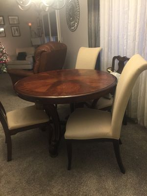 Solid wood table and chairs for Sale in Scott Depot, WV