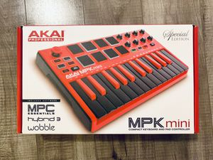 Akai special edition Red/black MPK mini compact keyboard and pad controller for Sale in Los Angeles, CA