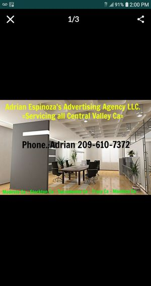 New Advertising Agency In Central Valley 209 New L E D Billboard in Tracy Ca 205 freeway get your Product known ..209 -612-2060Adrian for Sale in Manteca, CA