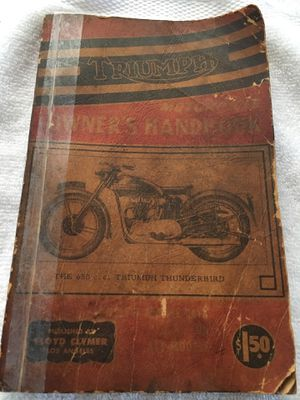 Triumph Motorcycle Hand Book for Sale in Lakewood, CA