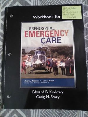 EMT EMS PREHOSPITAL CARE 10TH EDITION WORKBOOK for Sale in Melder, LA