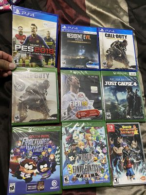 Video game lot ps4 Xbox switch for Sale in Stockton, CA