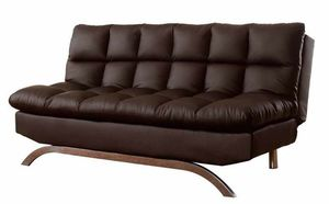 Dark Brown Soft Leather FUTON Sofa Bed for Sale in San Diego, CA