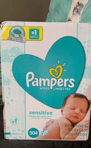 Pampers sensitive wipes pop tops in exchange for Sale in San Diego, CA