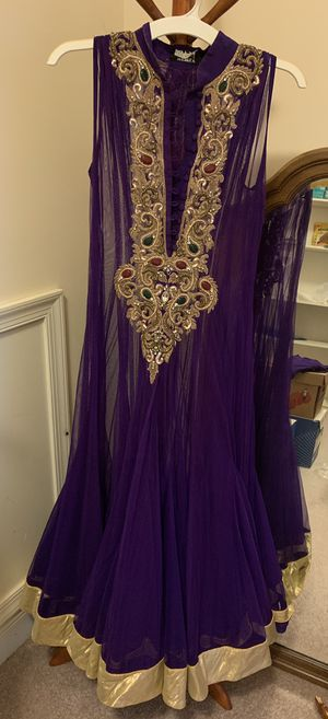 4-pc embroidered Indian anarkali outfit for Sale in Rockville, MD