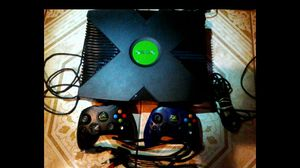 Xbox and two controllers all wires included cleaned and tested and in perfect working order for Sale in Phoenix, AZ