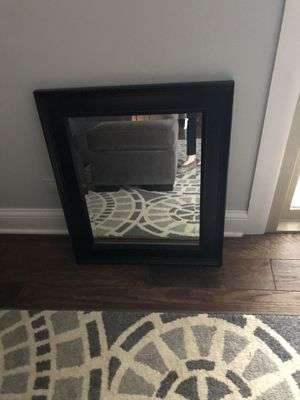 Black hanging wall mirror for Sale in Wheaton, IL