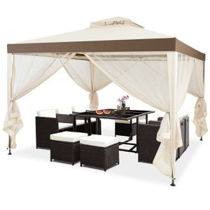10'x 10' Canopy Gazebo Tent Shelter Mosquito Netting Outdoor Patio Home Garden Decor for Sale in Henderson, NV